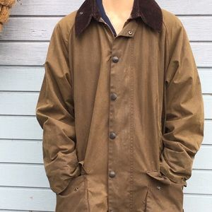 Classic Barbour Beaufort in olive /plaid